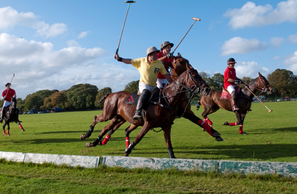 a game of polo with a Inner tube polo is largely similar to the traditional game of water polo, but with only one main difference: all players, except the goalkeeper, are required to float on large inner tubes (also known as an inflatable float) at all times.