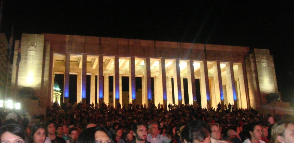Evening Events at the Flag Monument in Rosario, Argentina