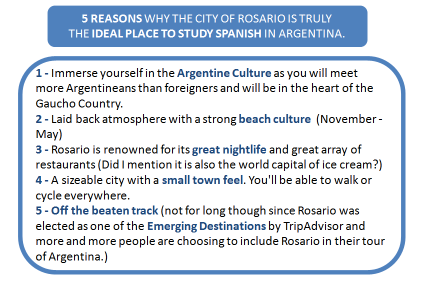 Why Spanish in Rosario
