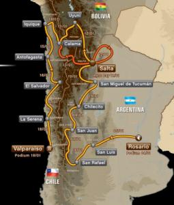 Map Dakar 2014